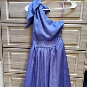 Lavendar one shoulder cocktail dress